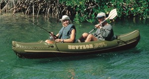 sevylor fishing and kayak in use