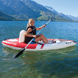 Sevylor Quickpak Coverless Sit on Top Kayak in Action