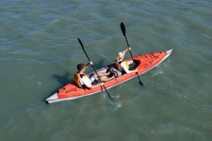 Advanced Elements AdvancedFrame Convertible inflatable kayak Seating