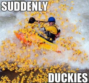 duckies while kayaking