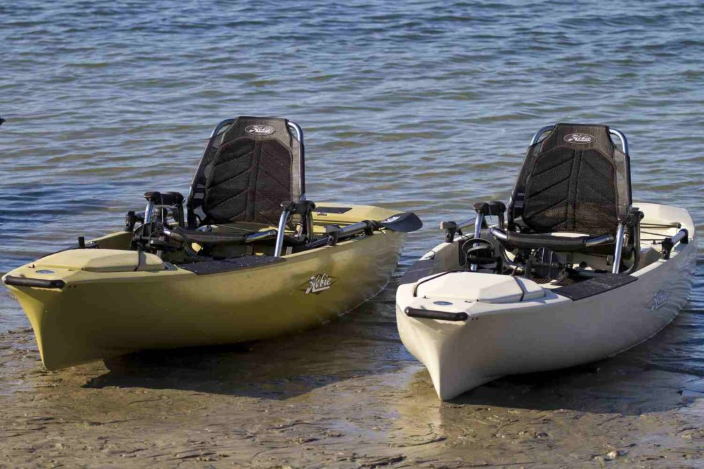 The seats on a Hobie Pro Angler 14 kayak