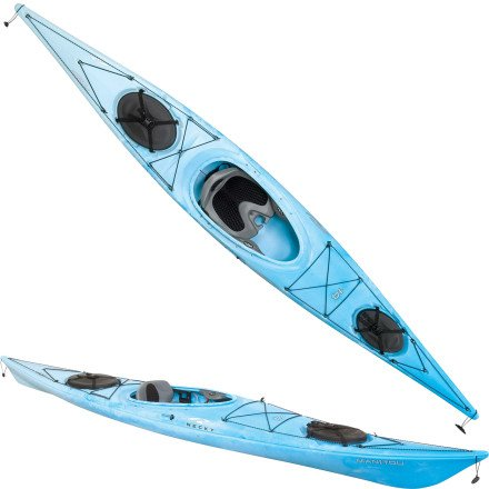 necky manitou 14 kayak in blue
