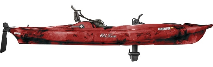 body of old town predator pdl kayak - red