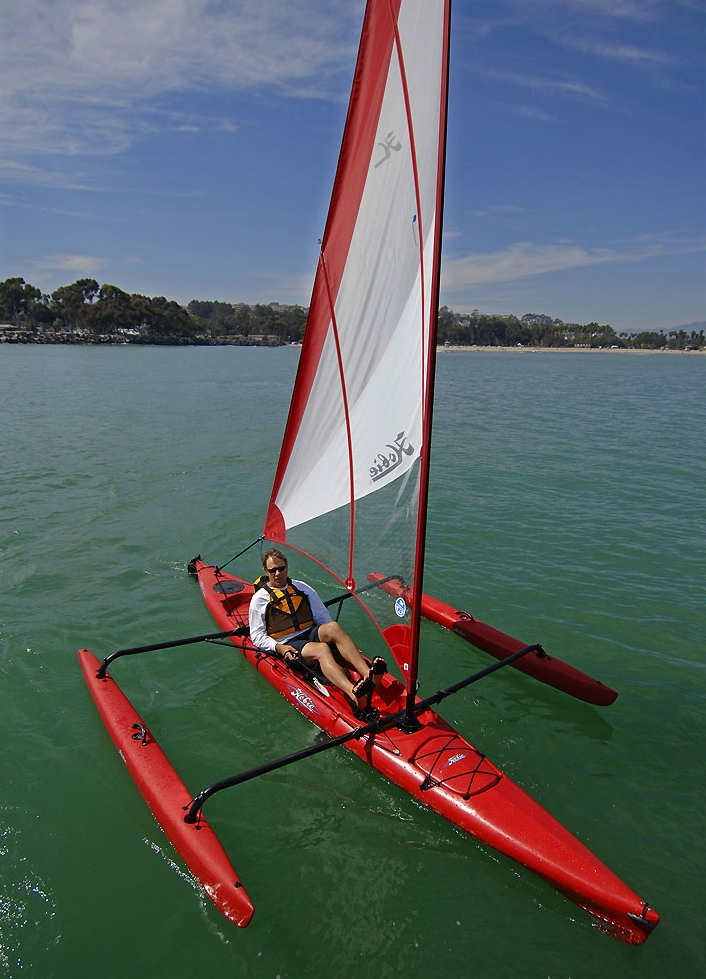 Hobie's sail kayak - adventure