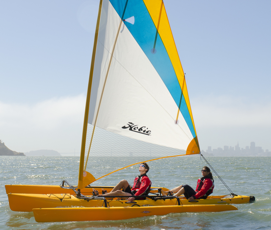 sail kayak - yellow