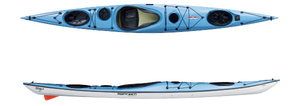 blue Whisky 16 touring kayak by nigel foster